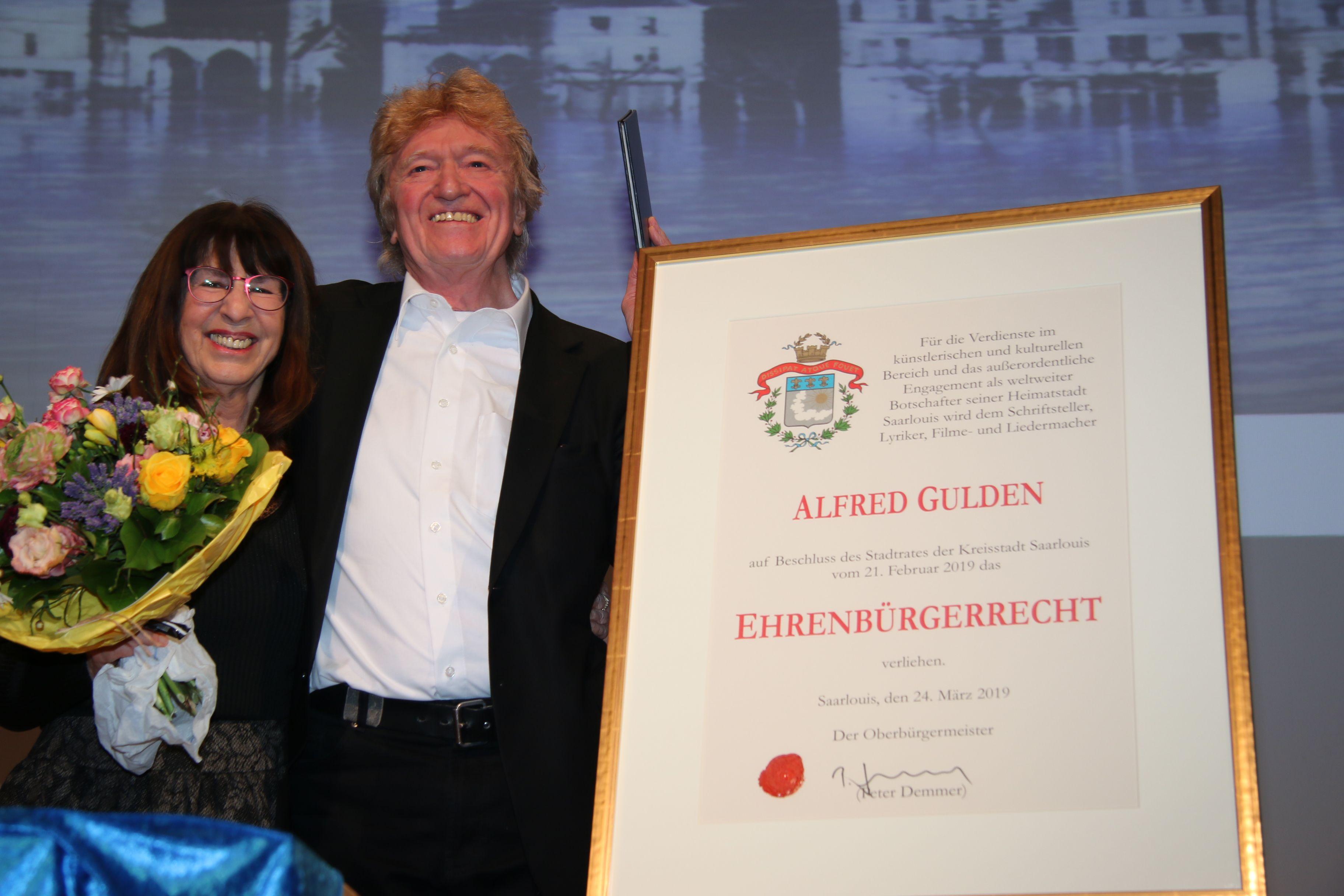 """""""Lou mol lo"""": Alfred Gulden ist neuer Ehrenbürger von Saarlouis"""