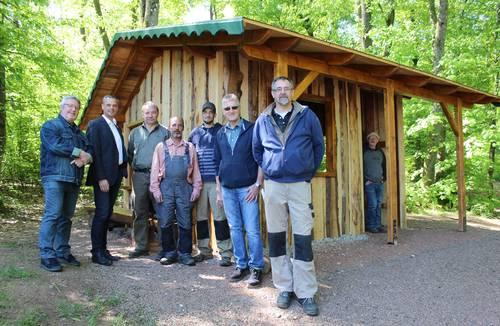 Neue Schutzhütte im Lebacher Wald