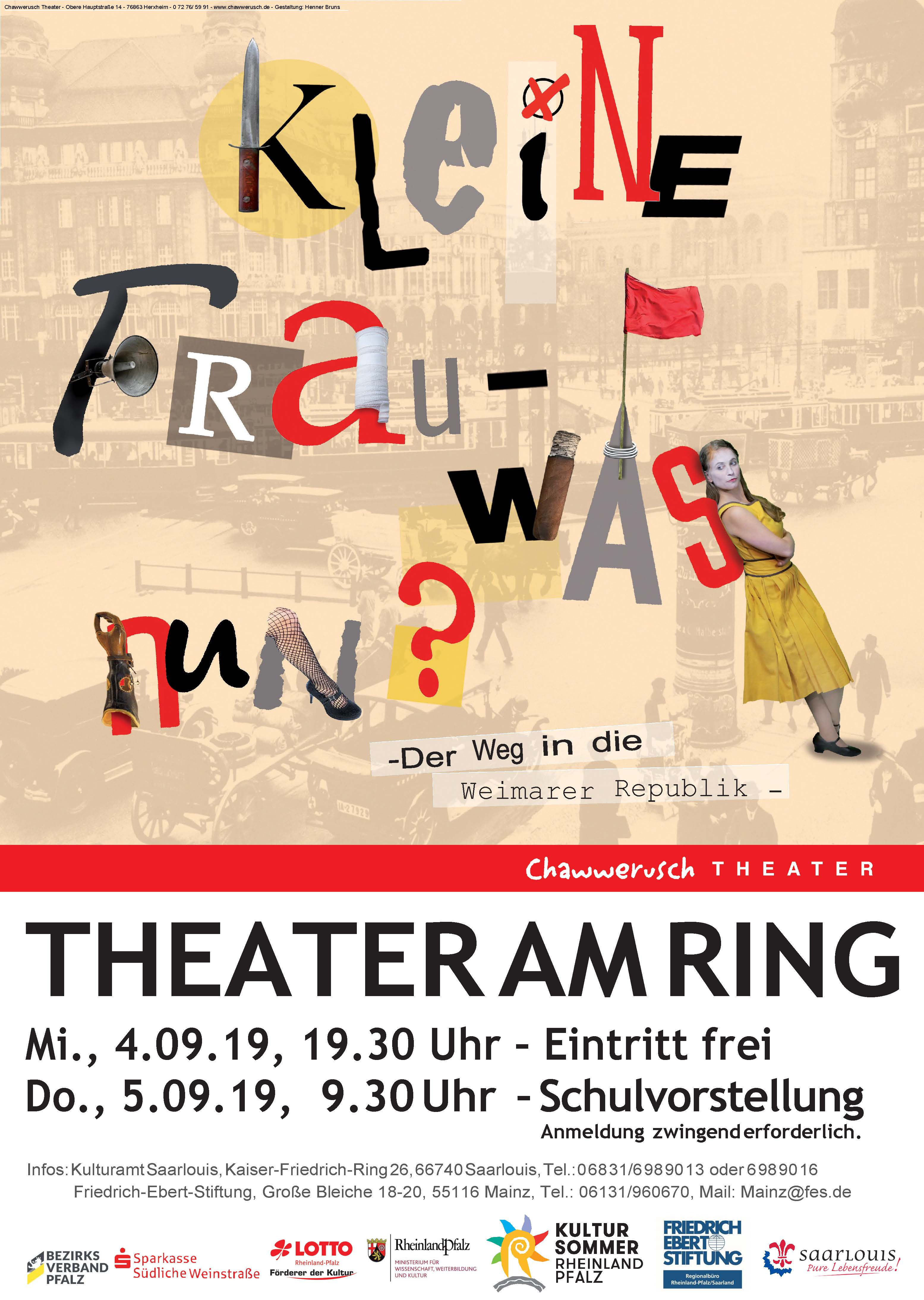"""Schultheaterstück """"Kleine Frau-was nun"""" im Theater am Ring"""