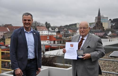 Richard Wagner erhält Ehrenmedaille der Stadt Lebach