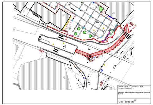 Einbahnstraßenregelung in der Marktstraße